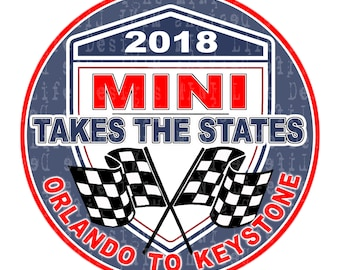 """Grill Badge- MTTS 2018 Orlando to Keystone BLUE  3"""" magnetic grill badge"""