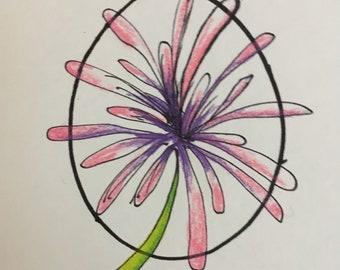 Whimsical Flower Burst