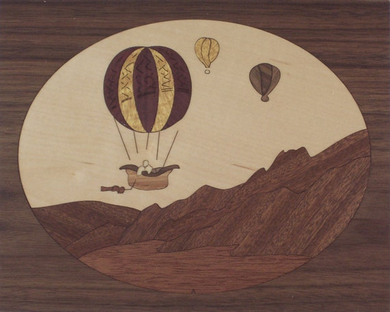 """4""""x 5"""" Marquetry Project Kit - Balloons"""