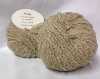 knit - crochet / 10 balls of yarn / baby camel/lot 2 / made in France