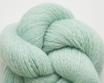 Heather Mint Recycled Cashmere Lace Weight Yarn, CSH00267