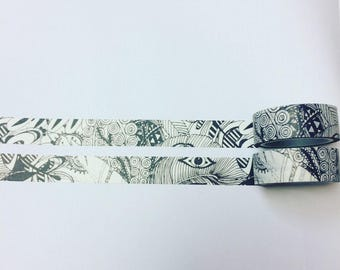 Black and white abstract washi tape
