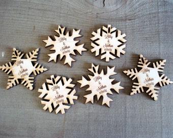 200 Snowflake Wedding Favors