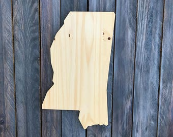 CUSTOMIZABLE Mississippi, State of Mississippi Wood Decor, Rustic State Home Decor, Wedding Housewarming Gift State, Other Sizes Available