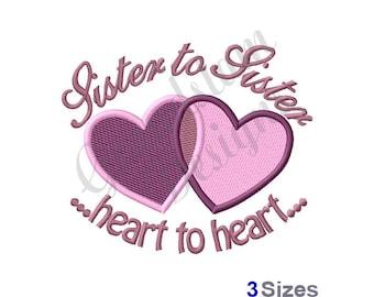 Sisterto Sister - Machine Embroidery Design