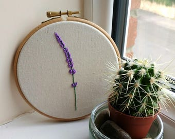 Lavender Embroidery Art | 5 inch hoop |
