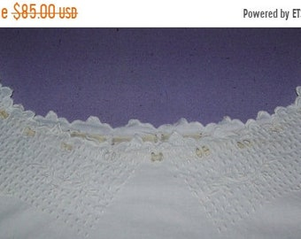 ON SALE ANTIQUE 1900 French Chemise Hand Embroidered Dress