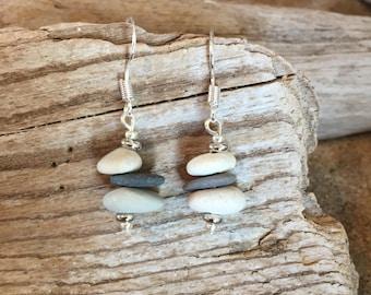 Beach stone earrings