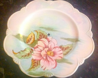 Royal Winton Cake stand 2 tier English Vintage China Lustre Pink Green  High Tea Party Pretty flowers