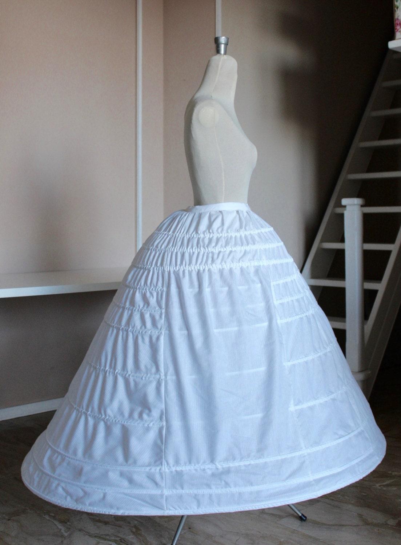 1860 Elliptical Crinoline Pad for white Victorian dress