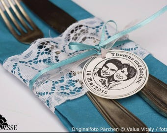 Pendant with your photo print, labels, gift tags, photo pendants, personalized gifts, wedding, baptism, from 40 units