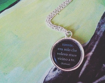 Cameo Book Necklace Alessandro Baricco-book Necklace