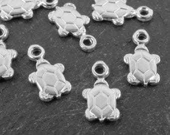 Sterling Silver Turtle Charm 11mm