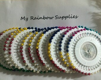 5 Rolls(200pcs) of Home Round Pearl Head Dressmaking Pins,Wedding Corsage Pins.Sewing Pins,Garment Accessory