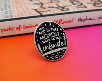 I Swear We Were Infinite - enamel lapel pin | cute enamel pin hat badge perks of being a wallflower