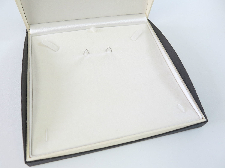 Luxury Black Ivory Jewellery Set Gift Box Case 19cm X 19cm