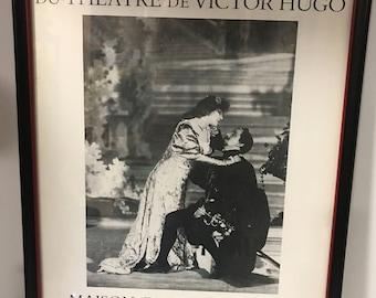 French Poster Quelques Photographies Du Theatre De Victor Hugo 1984 Paris Art