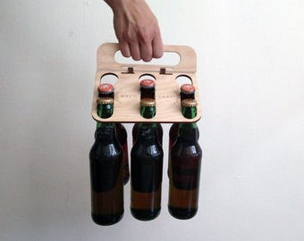 Six Pack Beer Caddy - 12 oz. and 22 oz. Bombers