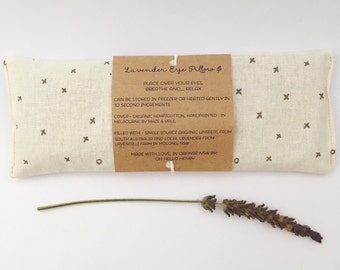Lavender eye pillow / yoga / meditation / relaxation / valentines gift