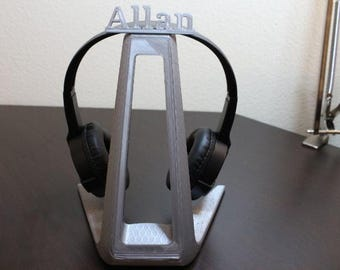 Personalized headphone stand, Cool gift idea !