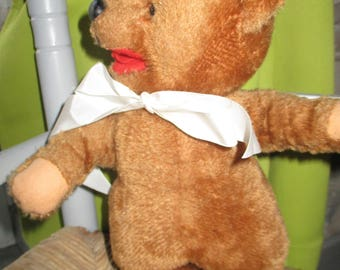 Stunning bear antique BAREN MARKE in very good condition, felt pads salmon 28 cm old language Teddy Bear