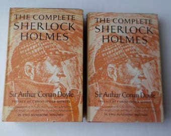 The Complete Sherlock Holmes by Sir Arthur Conan Doyle 2 Volume Set Doubleday Hardcover Preface by Christopher Morley