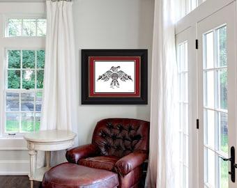 "Haida Art Style - ""Thunderbird"" - Fine Art Print, Giclee Print, Poster Print of Pacific Northwest Coast Art"