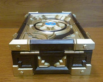 Custom Wooden HS Box Replica Blizzard Hearthstone Collectible Card Game Warcraft Personalized Birthday Gift Jewelry Box Storage Casket