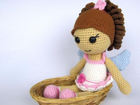 Amigurumi tutorial angel : Little angel girl amigurumi crochet pattern doll pattern from