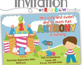 083: DIY - Candyland Party Invitation Or Thank You Card