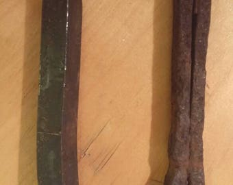 Old railroad spikes. Very heavy