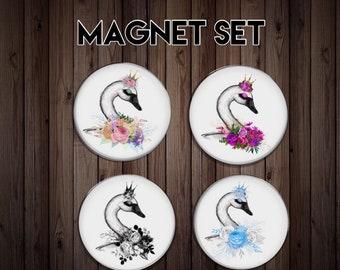 Fridge magnet   kitchen magnet   dinner gift   swan magnet   friend gift    host gift   party gift   swan gift