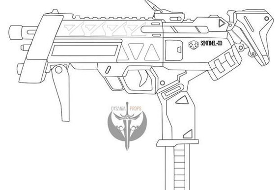 Sombras machine pistol blueprints overwatch from dysaniaprops on this is a digital file malvernweather Choice Image
