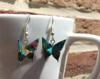 Origami paper butterflies Colorescadeaux Christmas gift Christmas