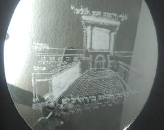 EAC Ha Mikdash gravé sur un miroir