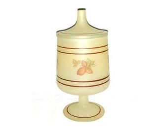 Vintage Satin Glass Fairy Lamp,Westclair Fairy Lamp,Westclair,Candle Holder,Satin Glass,Fairy Lamp,Westclair Glass,Autumn,Leaves,Candle