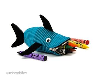 BÉBÉ requin - poisson pour enfants sac à main - pochette Crayon - premier cadeau d'anniversaire - océan mignon Animal - enfant voyage pochette - organisateur - prêt à l'expédition