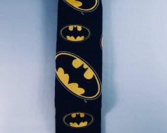 Batman Emblem Necktie Little Boys, Cartoon Superhero Black Yellow