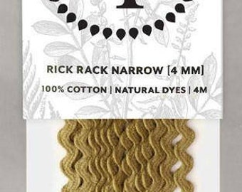 Naturally Dyed 4mm Rick Rack-Olive