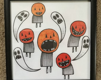 Pumpkin People - Print