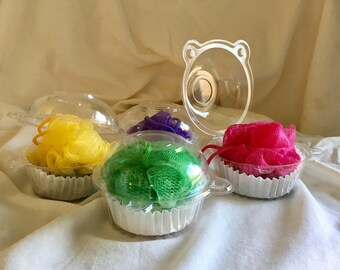 Two Cupcake Organic Soap and Puff! 2 for 7