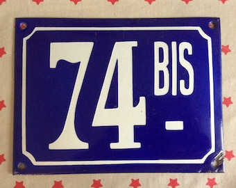 Vintage Street number sign