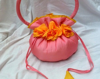 Silk bag pink