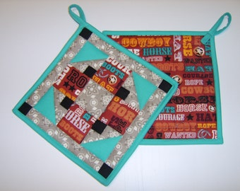Western Album Potholders Set
