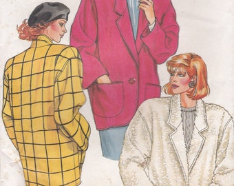 1980's Sewing Pattern - Butterick 3421 Jacket  Size 14 to 18 Uncut, Factory Folded
