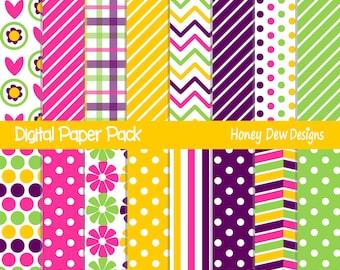 Instant Download - Digital Paper Pack 289 - Patterned Paper