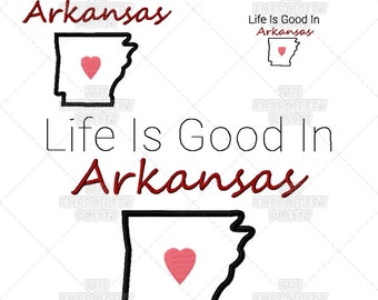 Life is Good, Arkansas embroidery, Quotes, Word Art, Machine Embroidery, embroidery patterns, Arkansas crafts, Arkansas patterns