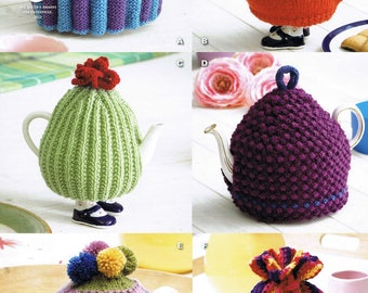 6 Tea Cosy Cozy Cosies - King Cole DK 9014 - Knitting Pattern
