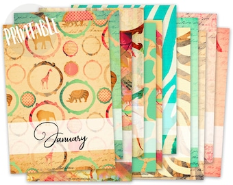 Month Planner Covers, A5, Monthly Dividers Printable, Dividers Planner, Cover Printable, Dividers Printable, Bullet Journal Printable, Bujo