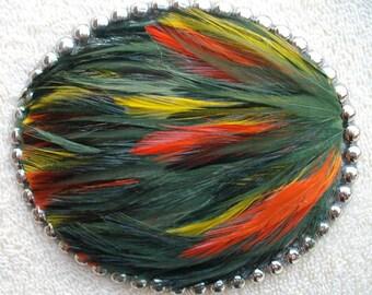 Autumn Feather Belt Buckle
